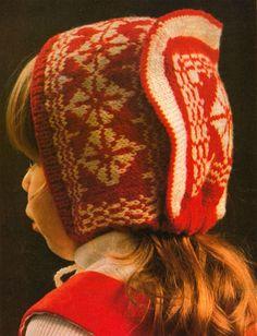 Hatt som i mormors tid - SE Official Knitting For Kids, Baby Knitting, Crochet Baby, Knit Crochet, Extreme Knitting, Swedish Fashion, Mittens, Baby Shower Gifts, Knitting Patterns