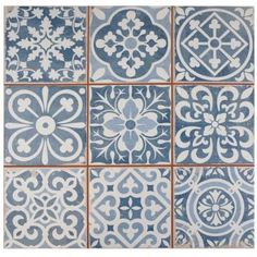 Merola Tile Faenza Azul 13 in. x 13 in. Ceramic Floor and Wall Tile (12.2 sq. ft. / case)-FPEFAEA - The Home Depot