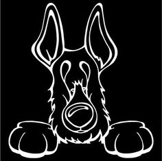 Do you love your German Shepherd? Then a dog decal from Decal Dogs is what you need to celebrate your best friend. Every Dog Has Its Decal! The decal measures 5 in. x 5 in. and can be applied to most