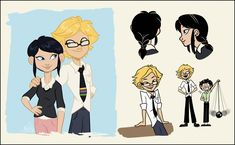 Some concepty things for an adult!Adrienette headcanon.Adrien becomes a physics professor. He's a student favorite and makes tons of terrible science puns during lecture. Most of the students...