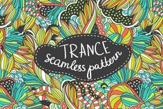 Handdrawn seamless trance pattern by utro_na_more on Creative Market