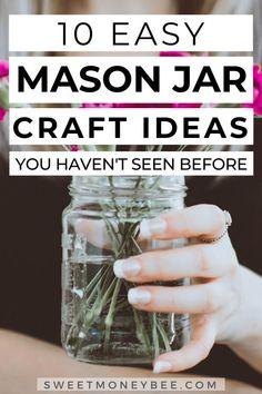 Uses For Mason Jars, Mason Jar Wine, Mason Jar Gifts, Diy Jars, Wine Bottle Crafts, Jar Crafts, Cookie Mix Jar, Mason Jar Projects, Diy Crafts For Home Decor