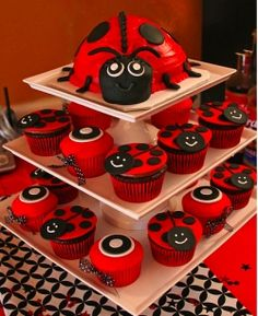 Be inspired by these super cute ladybug themed cupcake & cake decorating ideas and photos! See some of the best cake decorating, cupcake decorating,...