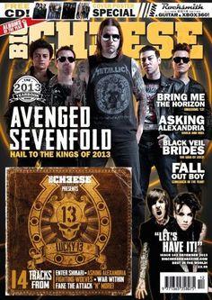 M. Shadows, Zacky Vengeance, Synyster Gates, Johnny Christ - Big Cheese Magazine Cover [United Kingdom] (December 2013)