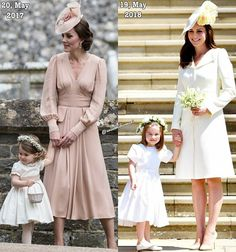 Pippa's wedding 2017 and Harry's wedding 2018