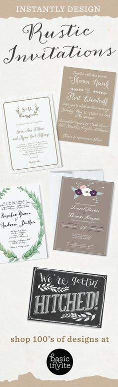 Make your wedding invitations as unique as you are.  Design your card instantly online with real-time previews with your choice of colors.  Choose from over 40 different colors of envelopes for the perfect match.