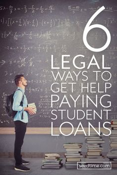 6 Legal Ways to Get Help Paying Student Loans - Pay off credit card - How long to Pay off credit card? - Paying off that kind of debt isnt easy but it is possible. And what you might not know is there is help available to pay off that debt. School Loans, College Loans, Scholarships For College, Law School, College Life, College Savings, College Students, High School, Student Loan Repayment