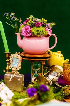 Through the looking glass with this Alice in Wonderland tea party inspiration
