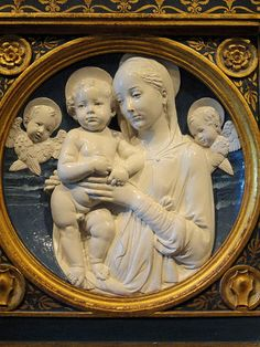 Madonna and Child with Cherubs by Andrea della Robbia - National Gallery of Art, Washington