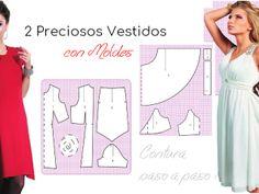 Moldes de vestido casual con mangas triangular - Costura Paso a PasoCostura Paso a Paso