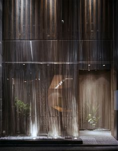 永山祐子建築設計 - YUKO NAGAYAMA&ASSOCIATES Metal Mesh Screen, Types Of Curtains, Metal Curtain, Outdoor Curtains, Glass Facades, Wall Finishes, Building Facade, Facade Design, Facade Architecture