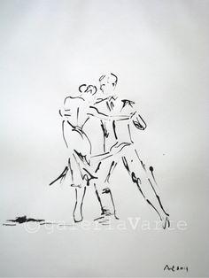 Dessin original Tango Dance europeanstreetteam par galeriaVarte