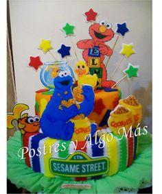Tota de Plaza Sesamo - Sesame Street cake