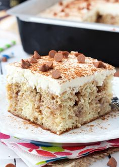 Cinnamon Roll Poke Cake. The moist vanilla cake is made with BAILEYS® Coffee Creamers Cinnamon Dolce and soaked with an amazing butter cinnamon mixture, topped with vanilla icing.