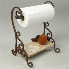 Old world Wrought Iron look Paper towel holder Hand made in the ...