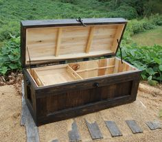 Large Hope Chest with Tray/Coffee Table/End by LooneyBinTradingCo
