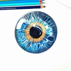 So I tried to make a realistic macro drawing of a blue eye using polychromos. Realistic Drawings, Love Drawings, Colorful Drawings, Pencil Drawings, Art Drawings, Drawing Projects, Drawing Lessons, Drawing Techniques, Painting Lessons