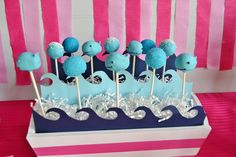These cake pops are a whale of a time. #birthday #party #cake #pops