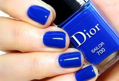 Dior: ♥ Sailor ♥ cobalt blue jelly nail polish ... Summer 2014 Collection