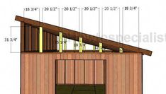 Lean to roof side supports roof Lean to Shed Roof Plans Lean To Shed Plans, Diy Shed Plans, Storage Shed Plans, Pallet Shed, Wood Shed, Pallet Barn, Building A Shed Roof, Building Plans, Building Homes