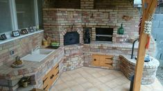 Four A Pizza, Backyard Fireplace, Cooking Stove, Bbq Area, My Dream Home, Outdoor Gardens, House Plans, Construction, Outdoors