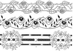 . Cutwork Embroidery, Embroidery Dress, Embroidery Patterns, Cut Work, Line Drawing, Blackwork, Swirls, Art Nouveau, Sketches