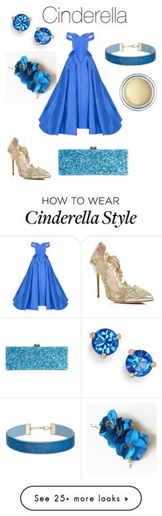 """""""Cinderella"""" by anahbooms on Polyvore featuring Oscar de la Renta, Kate Spade, Miss Selfridge, Christian Siriano, Edie Parker and Christian Dior"""