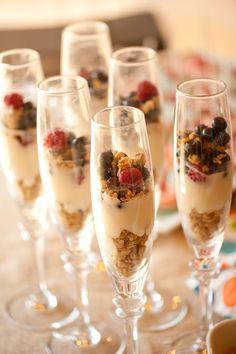 Healthy and Yummy - Granola, yogurt and fruit!