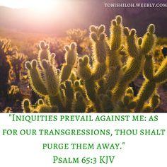 Psalm 65:3 KJV
