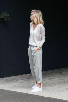 Свободные укороченные брюки с высокой талией
