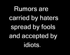 Haters, Fools and idiots