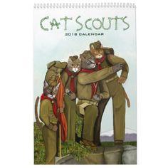 Cat Scouts 2018 Cute Camping Cats Calendar #cat #cats #kitten #catproducts