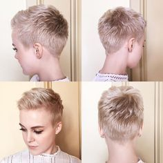 "3,136 curtidas, 177 comentários - ShortHair DontCare PixieCut (@nothingbutpixies) no Instagram: ""A great new styling tutorial by @sarahb.h. Who wants to see more of these styling videos just say…"""