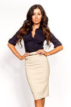 La jupe crayon ou jupe de tailleur est un grand classique des tenues de  working girl
