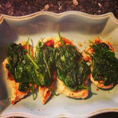 I Don't Go to the Gym: Skinny Spinach Chicken Parmesan