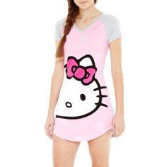 Hello Kitty® Short-Sleeve Raglan Sleep Tee  found at @JCPenney