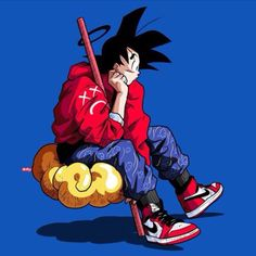 Goku on Nimbus Cloud Anime: Dragonball Z