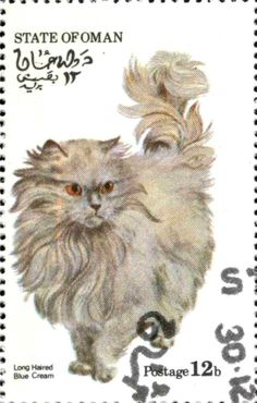 Stamp: Long Haired Blue Cream (Cinderellas) (Oman (State of)) Col:OM 1973-09/4