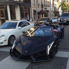 #Lamborghini Veneno #Roadster spotted #on the #road