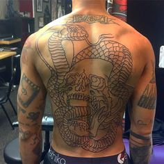Just finished this 6hour #backpiece linework on @gq_inked. - http://ift.tt/1HQJd81
