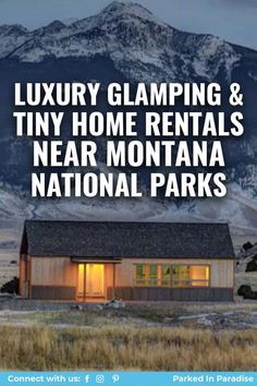 Road trip from Bozeman to Big Sky. Complete list of 19 of the best Airbnb rentals near Montana National Parks. Unique and luxurious glamping spots. Amazing tree houses, tiny homes, yurts and cabins. Montana National Parks, Luxury Glamping, Flathead Lake, Airbnb Rentals, Cool Tree Houses, Yurts, Big Sky, Mountain View, Tiny Homes