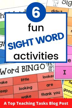 Learning the sounds of letters and developing phonemic awareness and phonics skills are crucial steps in early reading. However, there are some words that can't be sounded out and require a different approach. This is where sight words come in. Fun sight word activities draw on both kinaesthetic and visual learning and help develop fluency when reading.