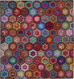 """Kim`s Glorious Garden from Glorious Color - quilt fabric and kits from """"Museum Quilts"""", """"Passionate Patchwork"""", and """"Kaleidoscope of Quilts"""" by Kaffe Fassett & Liza Lucy"""