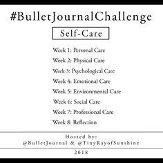 Self-Care Bullet Journal Challenge