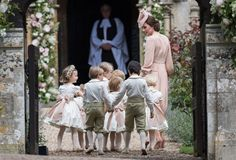 Kate Middleton and children at the wedding of Pippa Middleton and James Matthews Pippas Wedding, Wedding Of The Year, Wedding Photos, Wedding Dresses, Wedding Outfits, Wedding Mirror, Wedding Ideas, Pippa Middleton Wedding, Pippa And James