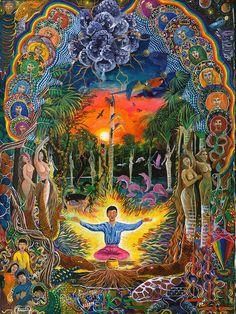 Jehua Supai Painting - Pablo Amaringo