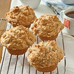 Applesauce Muffins with Cinnamon Streusel Topping Recipe | MyRecipes.com...