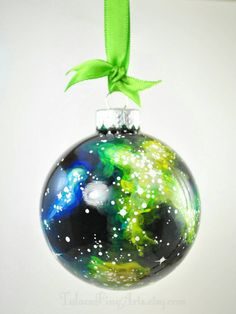 Hand Painted Cosmos Christmas Ornament by TulaczFineArts space ornament, galaxy ornament, nebula, stars, outer space, astronomy, science, geek, nerd, galaxy decor, unique Ornament, Christmas tree, space art