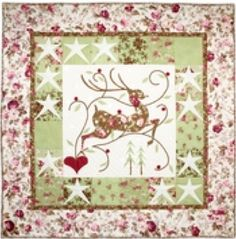 """This free quilt pattern is called """"A Winter's Dance"""". This is a cute one for Christmas."""