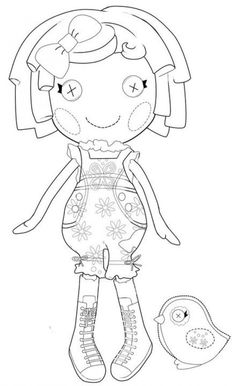 Printable Lalaloopsy Coloring pages for FREE! I am making a coloring ...